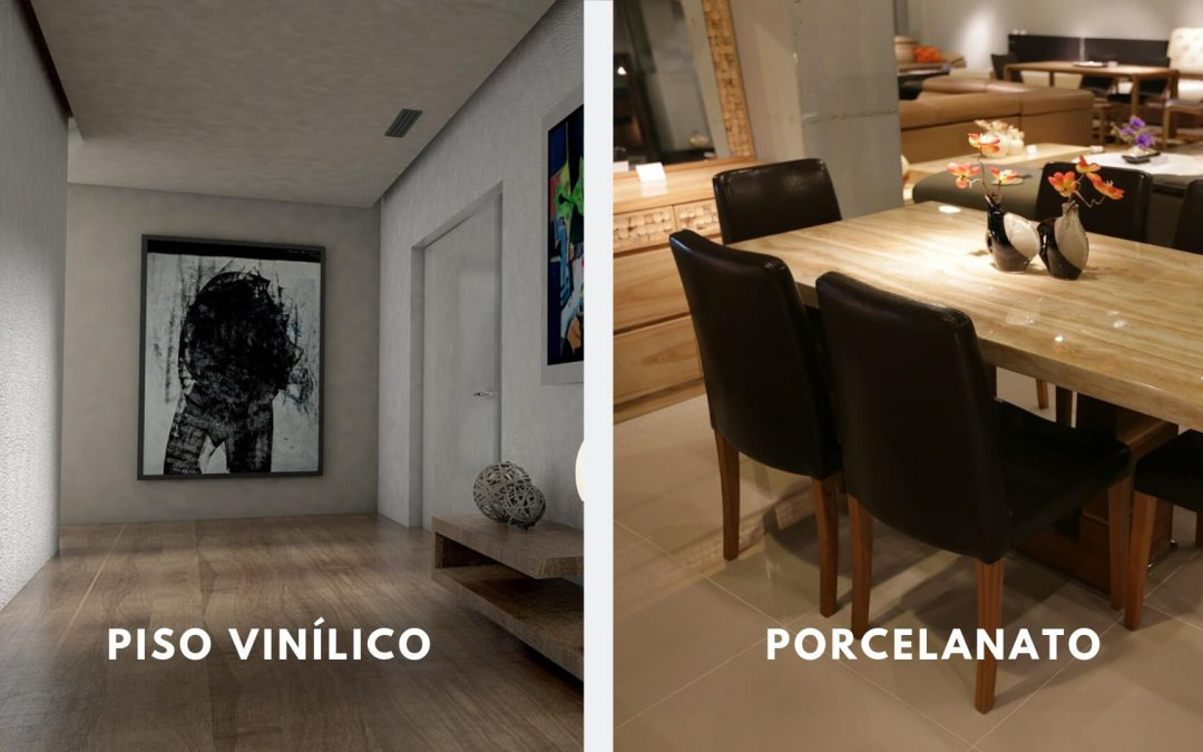 Quais são as principais diferenças entre piso vinílico e porcelanato?