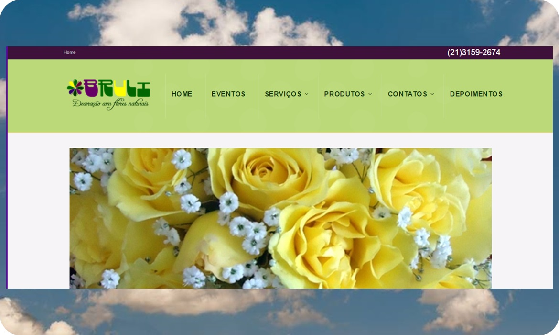 Bruli – Decoração com Flores Natuaris