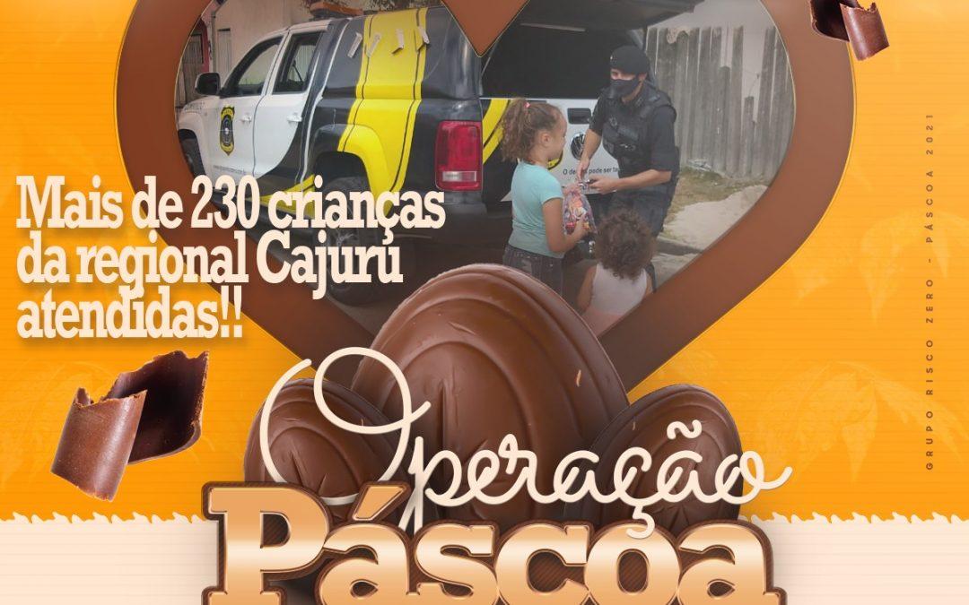 Operação Páscoa leva doçura para comunidade de Curitiba.