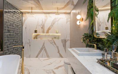Decorando o banheiro com plantas artificiais