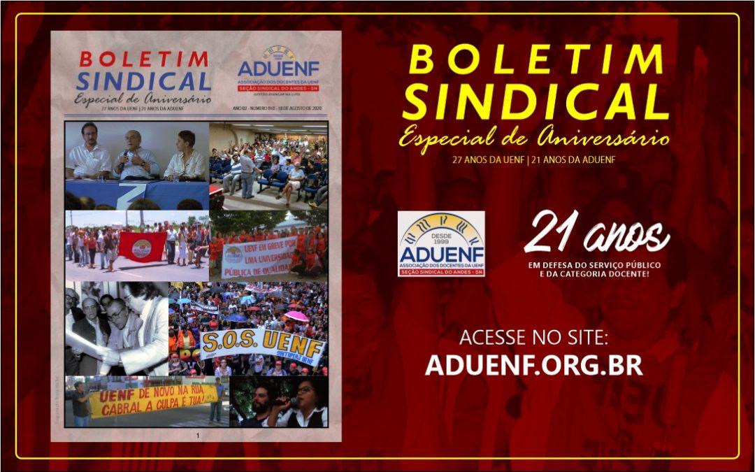 BOLETIM SINDICAL – ESPECIAL DE ANIVERSÁRIO, ADUENF 21 ANOS