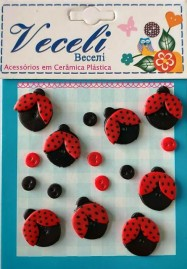 Kit botões Joaninhas - Veceli