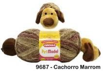 Lã Pet Model - Cachorro Marron - Circulo