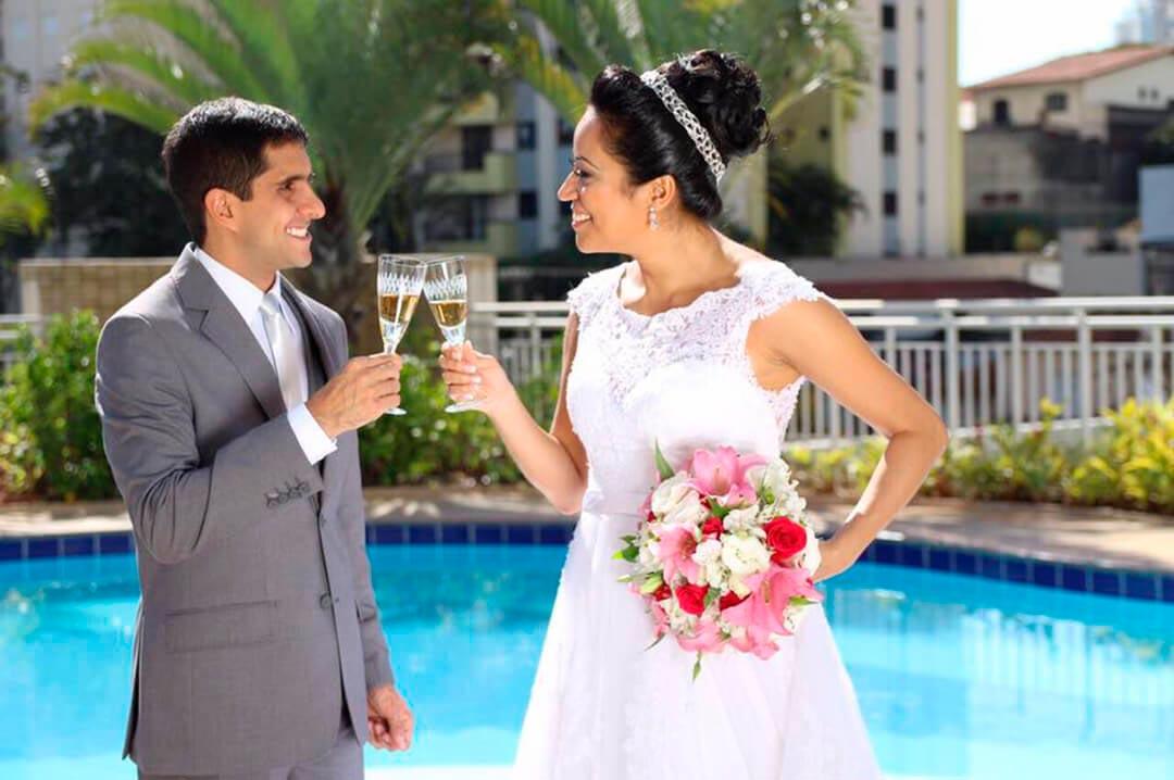 Decoração Mini Wedding ambientada - Festejare Decorações e Flores