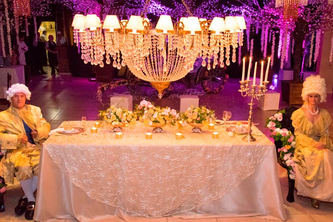 Decoração temática Luis XV - Festejare Decorações e Flores