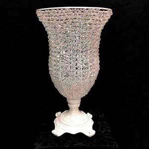 Vaso cristal boca larga G-locação de peças decorativas