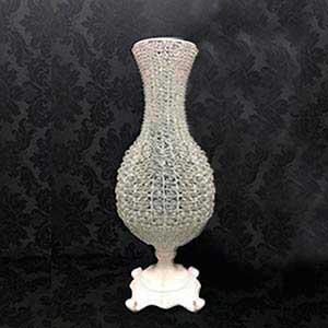 Vaso cristal bojudo M -locação de peças decorativas