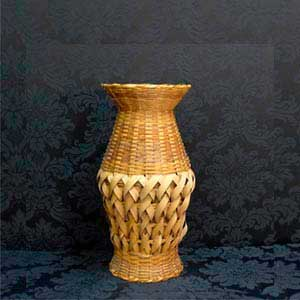 Vaso de palha P -locação de peças decorativas