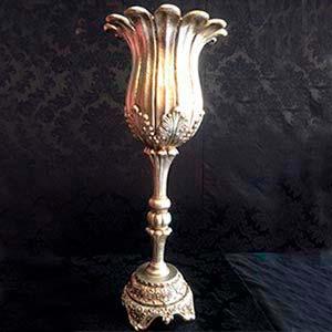 Vaso dourado GG-locação de peças decorativas