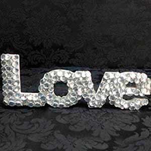 Love de cristal -locação de peças decorativas