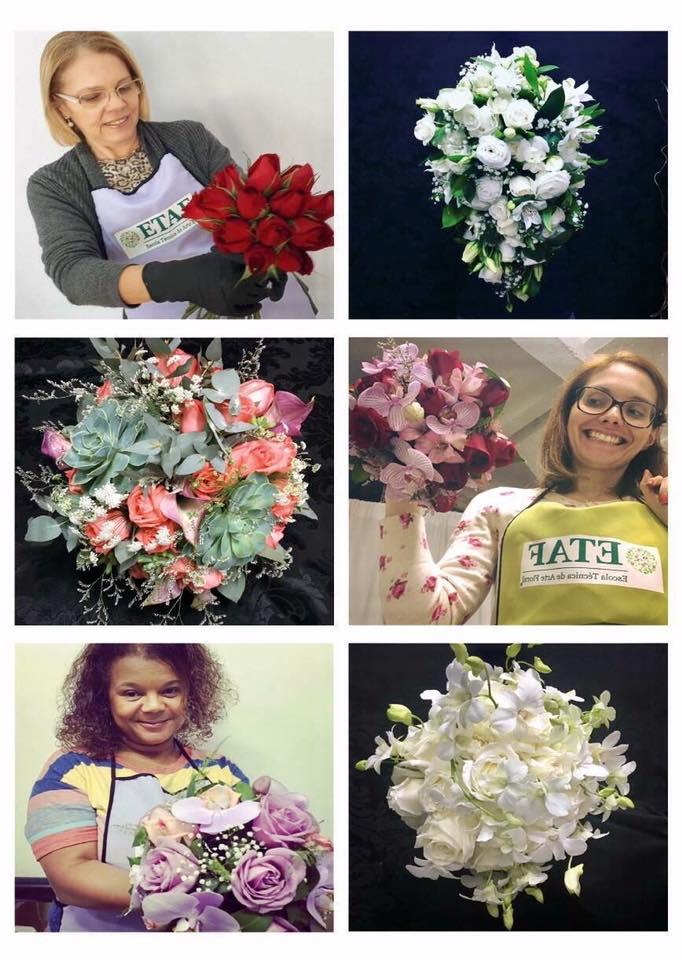 Cursos de arte floral: Buquês para Noivas