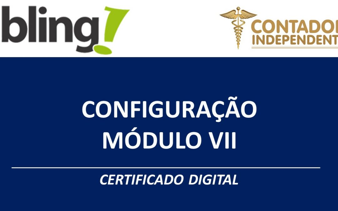 Bling certificado digital