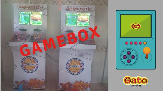 game box no Gato Lanches
