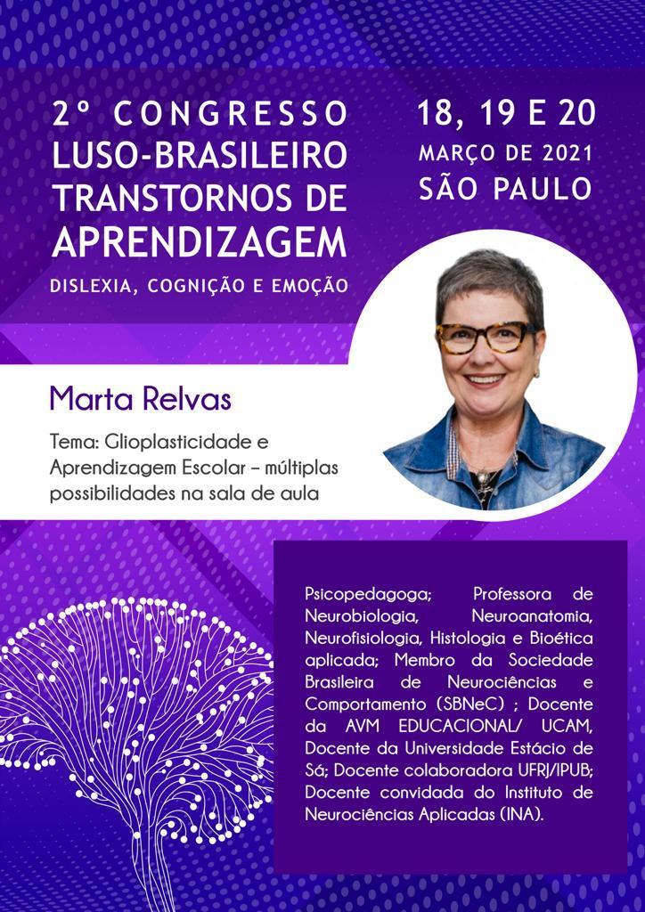 cartaz do 2º Congresso luso-brasileiro transtornos de aprendizagem